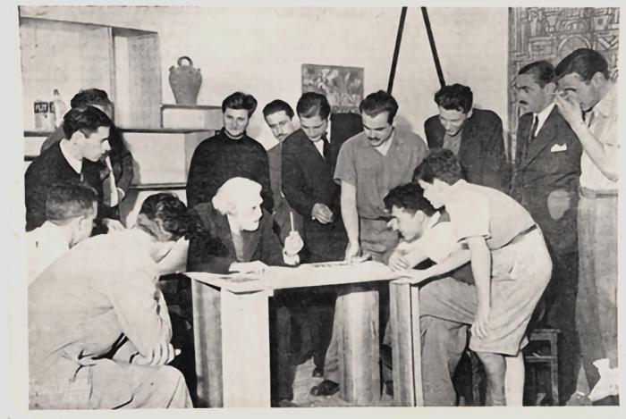 Taller Torres García En el ateneo de Montevideo 1947.