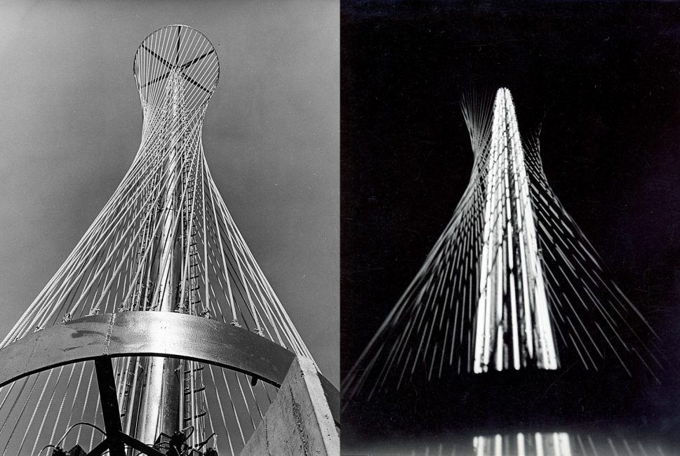 Torre Cedíaz 1967. Junto a Gerd Leufert. Caracas. Foto Ladislao Racz