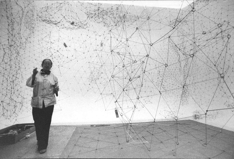 Gego. Montaje de Reticulárea. Galería de Arte Nacional. Foto Christian Belpaire 1980