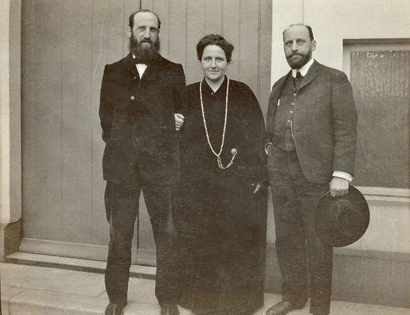 Los Stein. Leo, Gertrude y Michael. 1907. © Cortesía Metropolitan Museum of Art, NY.