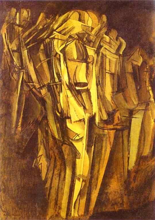 Marcel Duchamp. Hombre joven triste en un tren.