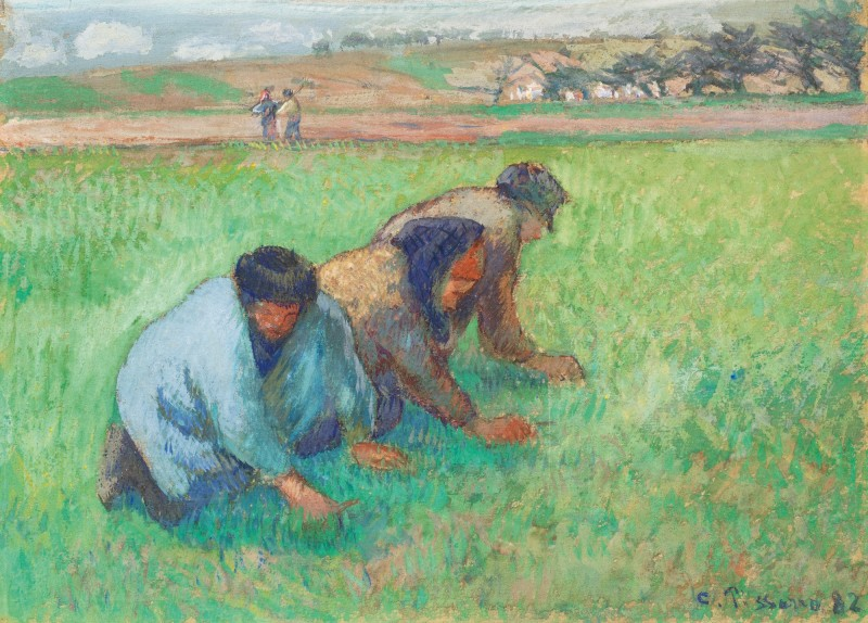 Camille Pissarro. Les sarcleurs 1882