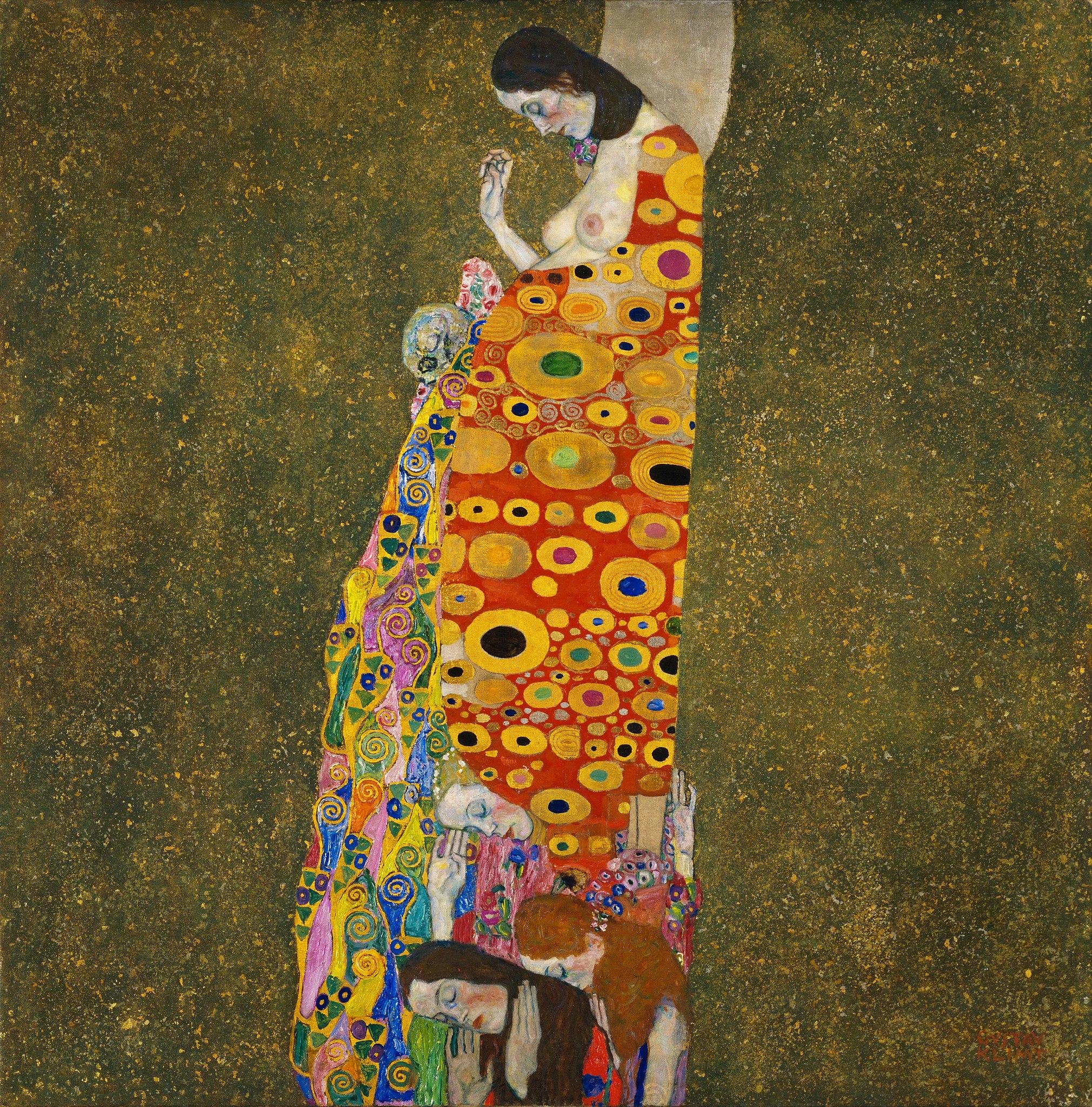 Gustav Klimt. Hope, II 1907-1908