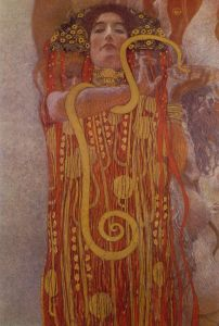 Klimt. Detalle de Medicina. Hygeia
