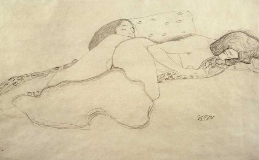 Klimt, Dibujo erótico.