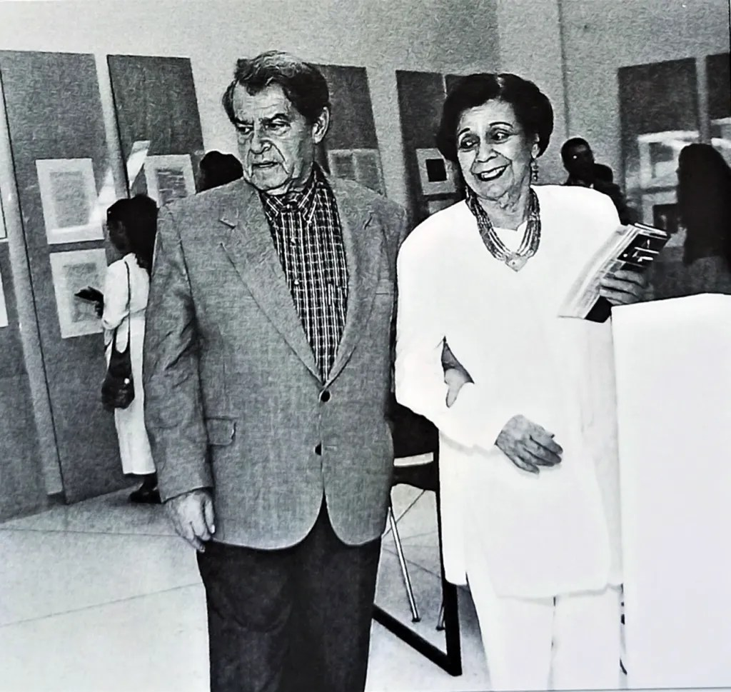 María teresa Castillo con Horacio Peterson