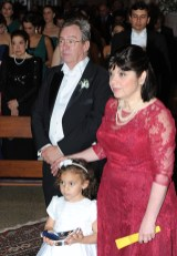 Per Kurowski y Mercedes Cordido de Kurowski junto a su nieta
