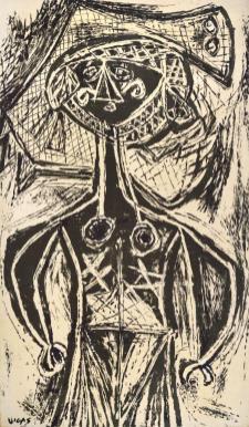 Bruja 1976 Impresión fotográfica sobre tela intervenida por el artista c