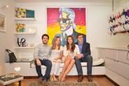Diego Chiossone, Mimi Paván de Chiossone, Ruth Sánchez-Bueno y Alfredo Brillembourg Armas