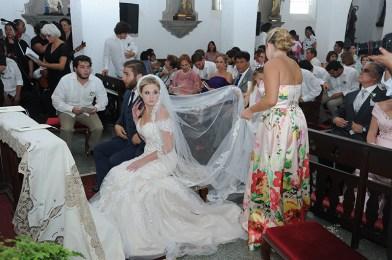 Los novios antes de la ceremonia