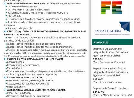 Negocios con Brasil – Taller para conocer todo lo necesario para exportar
