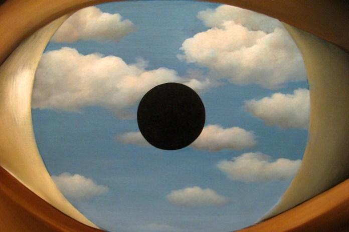 René Magritte, O Espelho Falso, 1936