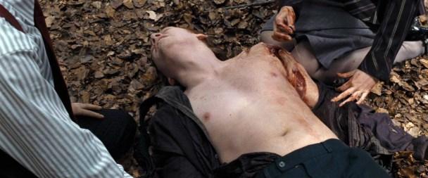Em Harry Potter e os Talismãs da Morte, durante uma materialização, Ron Weasley sofre feridas profundas