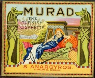 Esta marca de tabaco turco homenageia mui justamente a coerência de Murad IV na luta contra os vícios sacrílegos.