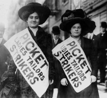 Piquete de greve em Nova Iorque, 1908
