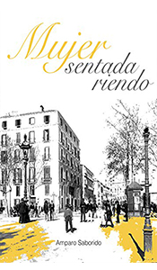 revistas literarias españolas. mujer sentada riendo