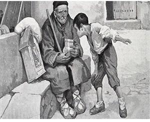 foto ilustracion lazarillo de tormes en revista literaria galeradas