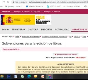 Revista Literaria Galeradas. Ayudas a la cultura