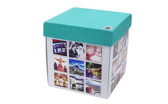Produto da loja Meu Puff Ecológico, que pode ser personalizado com fotos do instagram ou do facebook. Preço: R$ 98,90 (Foto: Divulgação)