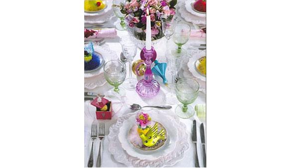 mesa natal colorida