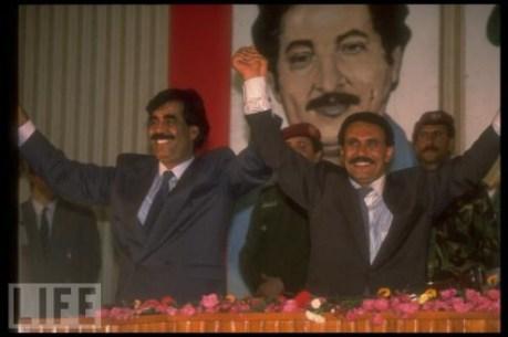 Ali Salem al Beidh (E) e Ali Abdullah Saleh, (D). Crédito: medium.com