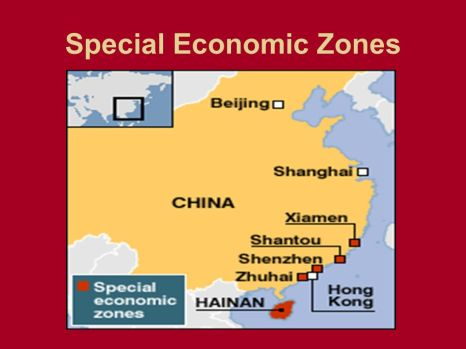 As zonas econômicas especiais criadas por Deng Xiaoping. Crédito: SliderPlayer.
