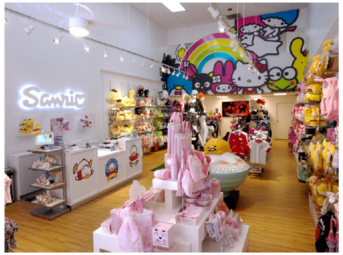 """Loja da Sanrio na """"pequena Tokyo"""" em Los Angeles. Crédito: Nerd Reactor."""