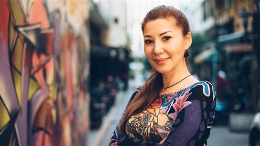 """A filha de Fusako Shigenobu, Mei Shigenobu em entrevista para a Aljazeera: """"u me sinto orgulhosa e sortuda por ter uma comunidade inteira de pessoas idealistas e abnegadas à minha volta"""". Crédito: Nadine Beyrouti / Al Jazeera."""
