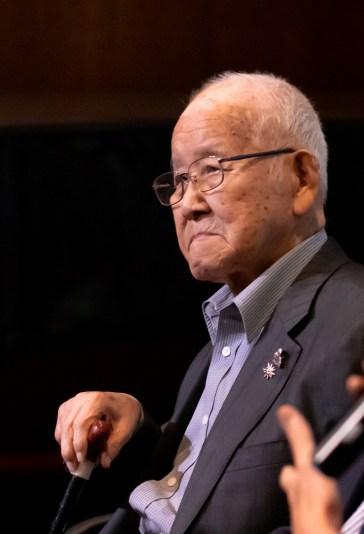 O sobrevivente e fundador da Associação Hibakusha Brasil pela Paz Takashi Morita. Crédito: Mariana S. Brites / Revista Intertelas.