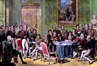 Pintura sobre o Congresso de Viena 1815. Crédito: https://mundoeducacao.bol.uol.com.br
