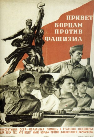 Propaganda soviética anti-fascista e imperialista. Crédito: Deviant Art.