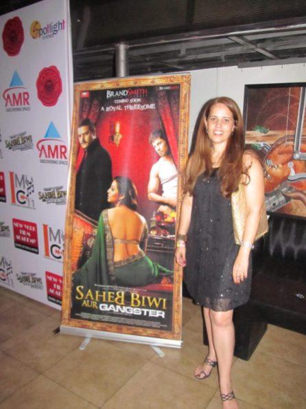 Florência Costa em lançamento de filme de Bollywood em Delhi. Crédito: Shobhan Saxena.