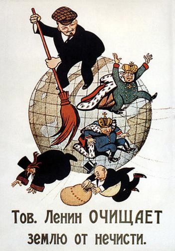 Propaganda soviética anti-imperialista. Crédito: Wikipedia.