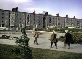 O Centro de Ciência e Cultura foi construído em Cabul como um presente do povo da União Soviética. Assim que as forças mujahideen apoiadas pelos EUA tomaram o poder, a instalação foi destruída. Crédito: TASS.