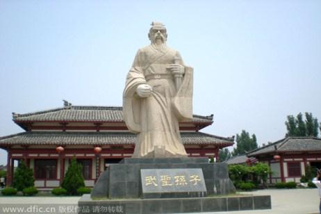 Monumento à Sun Tzu na China. Crédito: reprodução China Daily.