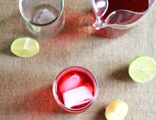 iced tea de hibisco