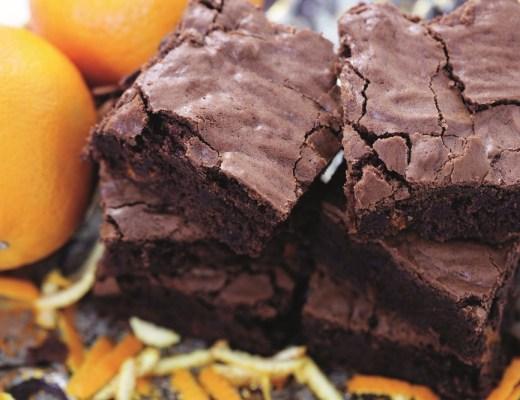Quadrados de laranja e chocolate