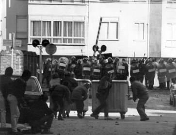 Reinosa (Cantabria) en lucha en 1987.