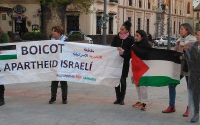 Concentración en solidaridad con Palestina en Granada.