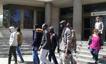 Malick Gueye y Rommy Arce comparecen en los juzgados de Plaza de Castilla.