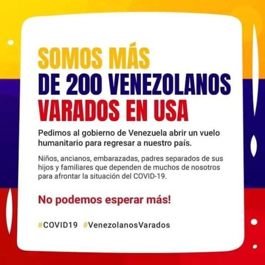 Mensaje enviado por los migrantes venezolanos
