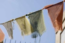 """""""Son prayer flags', típicas de Nepal. No fui, pero me gustan por el color y porque son plegarias escritas"""""""