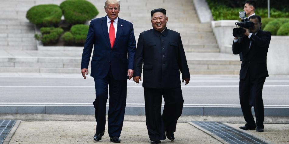 Trump, el primer presidente de EE. UU. en pisar Corea del Norte