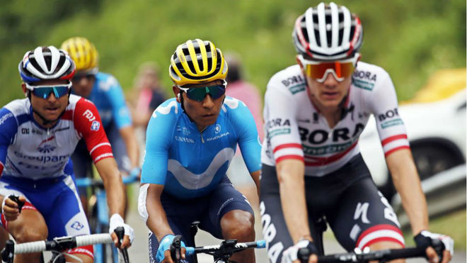 Nairo Quintana sigue en 'caída' libre, pero asciende en la general