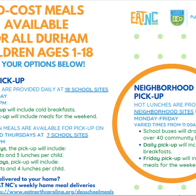 Durham Public Schools Student Meals