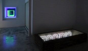"""Vista de la exposición """"Habitar el vacío"""", gentileza de Galería Joan Prats."""