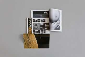 Mauro Vallejo, Pensar en extremos (cuerpo-espacio) II, 2013, Collage, interventions on magazines, 43x43x7cm. Cortesía de Rodríguez Gallery