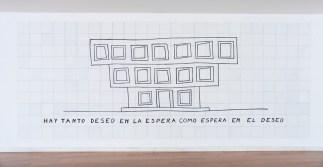 Patricia Esquivias. Sin título. Mosaico, 2013 Cerámica y pintura 200 x 600 cm Colección CGAC. Imagen cortesía del CGAC