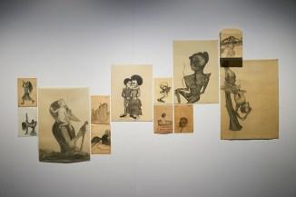 Vista de la exposición Meridianos de Sandra Vásquez de la Horra, Galería SENDA, febrero 2018. Imagen cortesía de Galería Senda