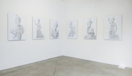 Mario Santizo, El sol es un martillo, 2016. Vista de la instalación en Prometeo Gallery, 2018. Imagen cortesía de Prometeo Gallery